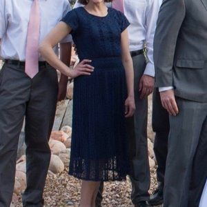Navy lace dress from Downeast
